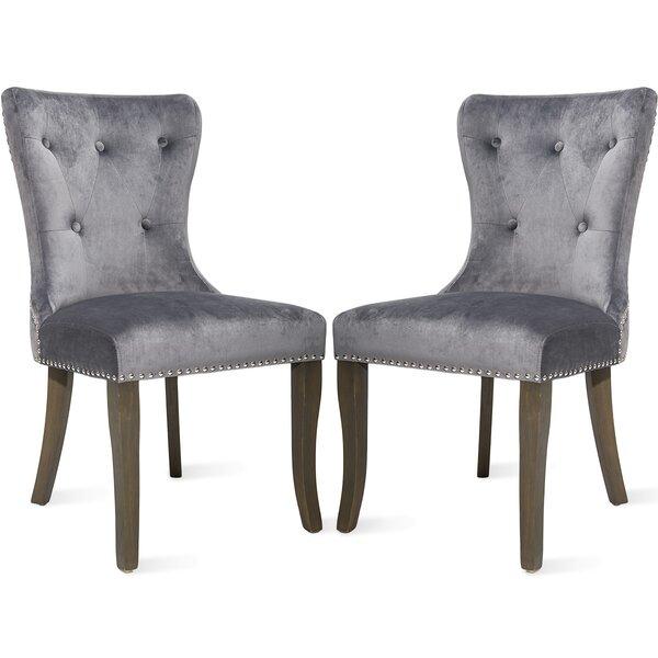 Porchella Velvet Upholstered Dining Chair In Gray (Set Of 2) By Red Barrel Studio