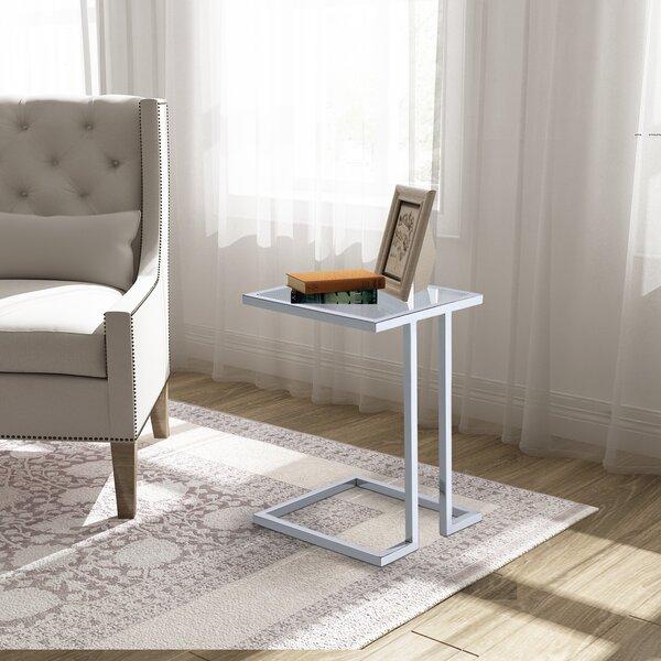 Raisa Glass Top C End Table By Latitude Run
