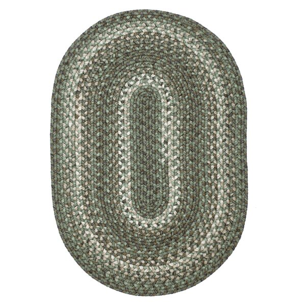Menik Ultra Durable Braided Green/Beige Indoor/Outdoor Area Rug