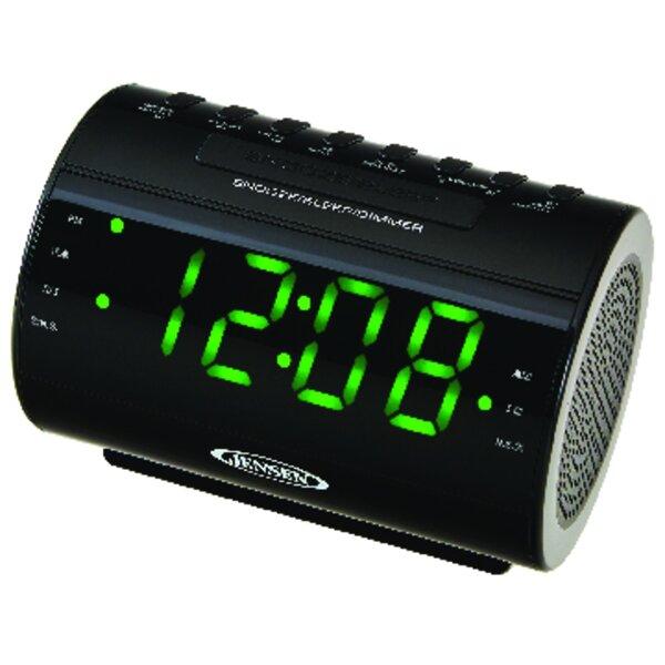 AM/FM Dual-Alarm Radio Tabletop Clock by Jensen
