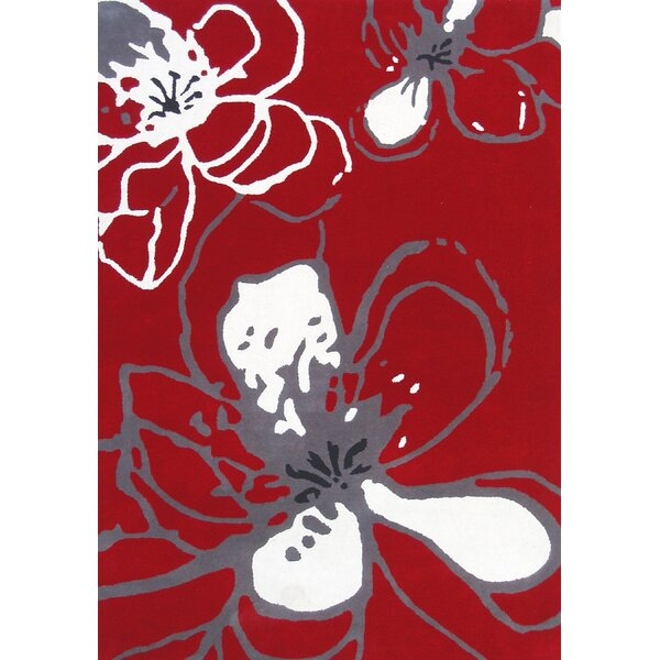 Modella Hand-Woven Wool Red Area Rug by nuLOOM