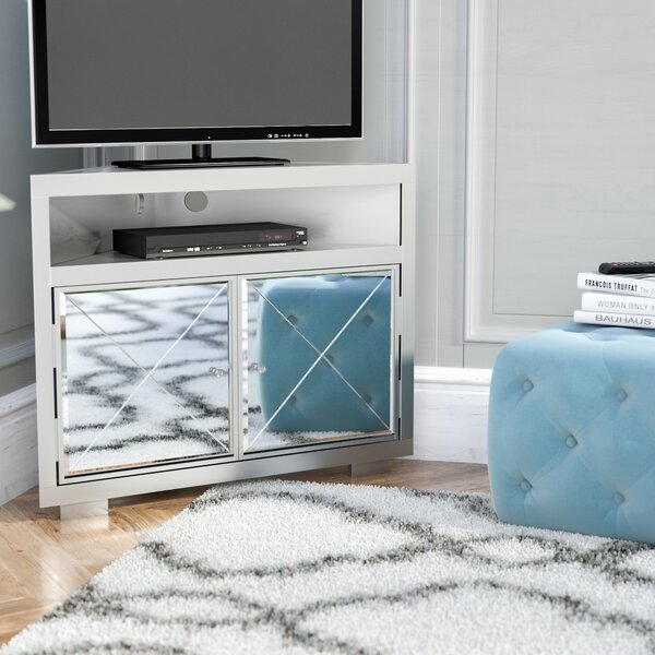 Review Reyes Corner TV Stand For TVs Up To 40
