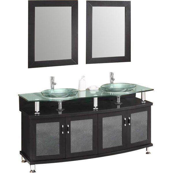 Classico Contento 59 Double Bathroom Vanity Set with Mirror by Fresca
