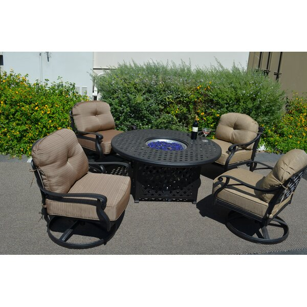 Nola 5 Piece Conversation Set with Cushions by Darby Home Co