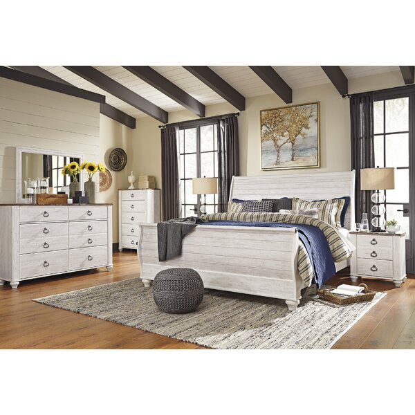 Naples Sleigh Configurable Bedroom Set by Three Posts