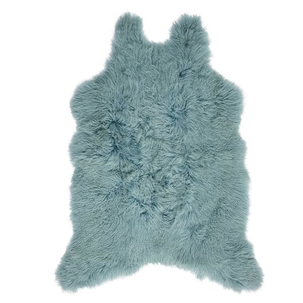 Christine Sheepskin Celadon Area Rug by Viv + Rae