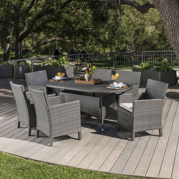 Argueta Outdoor Wicker 7 Piece Dining Set With Cushions By Ivy Bronx