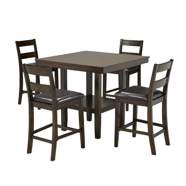 Tavarez 5-Piece Pub Set, Espresso by Red Barrel Studio