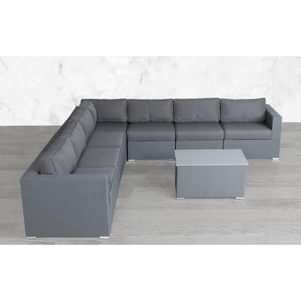 Braemar Modular L Shape 8 Piece Sectional Seating Group with Cushions by Orren Ellis