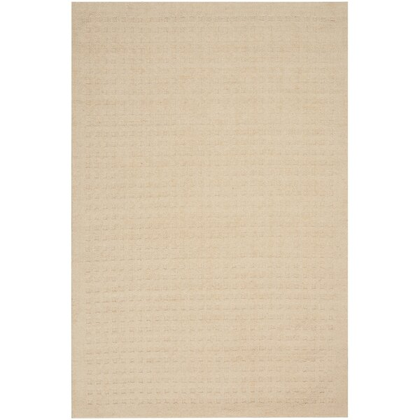 Dove Hand-Woven Wool Ivory Area Rug by Highland Dunes