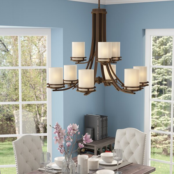 Chesire 9-Light Shaded Tiered Chandelier By Winston Porter
