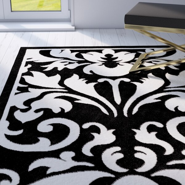 Medici Hand-Tufted Black/White Area Rug by Mercer41