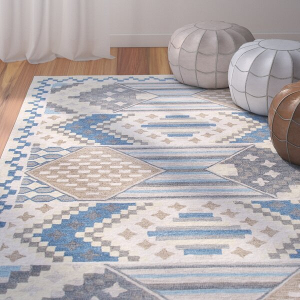 Duron Hand-Tufted Blue/Gray Area Rug by Bungalow Rose