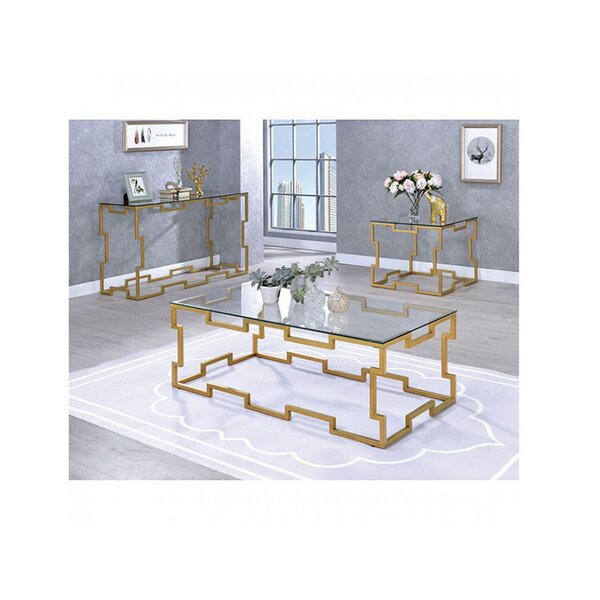 Romine 3 Piece Coffee Table Set by Everly Quinn Everly Quinn