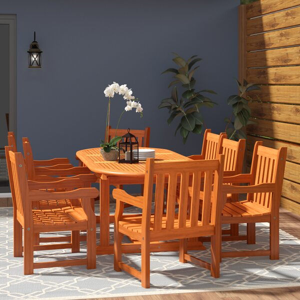Cadsden 9 Piece Dining Set by Three Posts