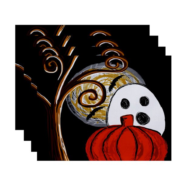 Flipping for Fall Ooky Spooky Print Placemat (Set of 4) by The Holiday Aisle