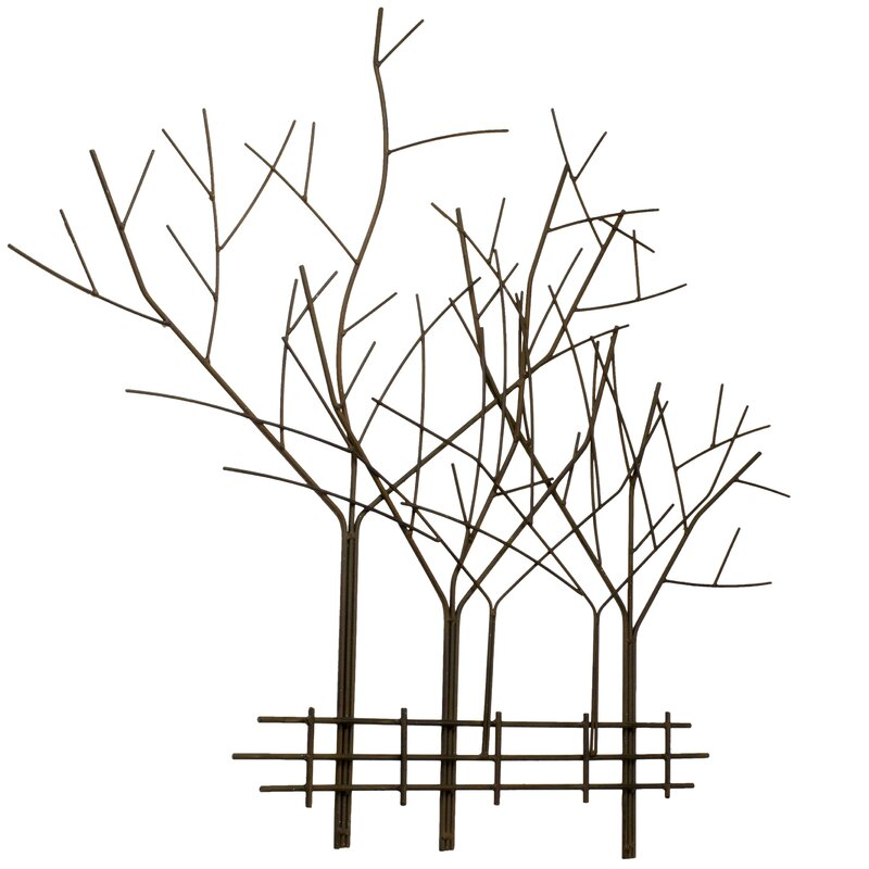 Twig Wall Decor bayaccents metal tree wall décor & reviews | wayfair