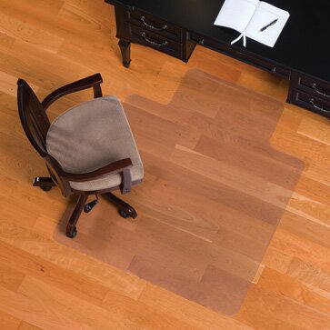 Hard Floor Straight Edge Chair Mat by ES Robbins Corporation