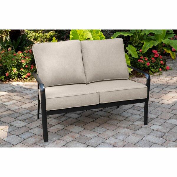 Colson Commercial-Grade Aluminum Loveseat with Plush Sunbrella Cushions by Gracie Oaks Gracie Oaks