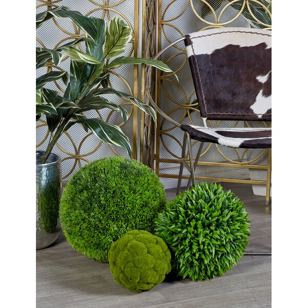 Plastic Grass Ball Topiary by Cole & Grey