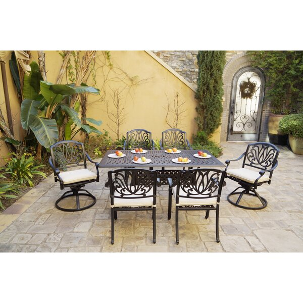 Burchette 7 Piece Dining Set with Cushions by Canora Grey