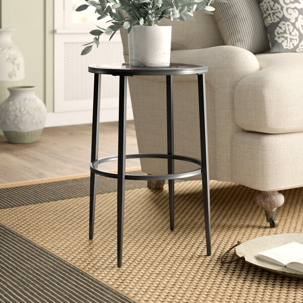Review Harlow Glass Top End Table