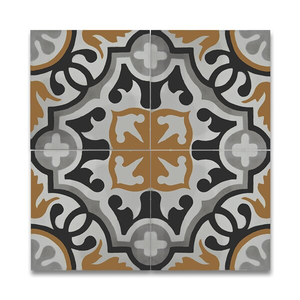 Baha 8 x 8 Handmade Cement Tile in Multi-Color by Moroccan Mosaic