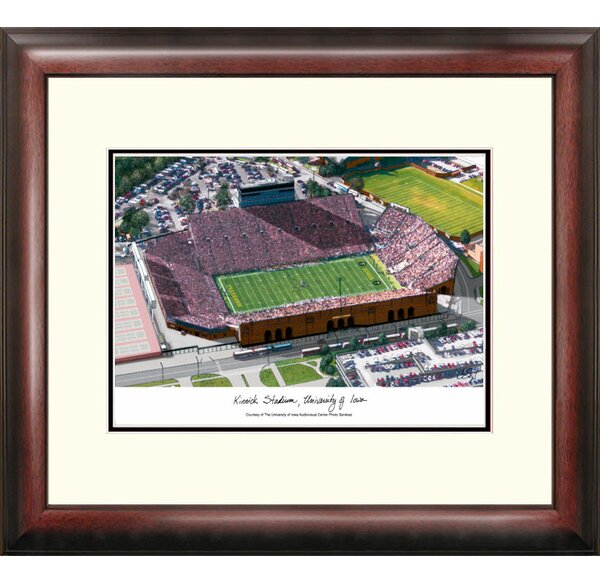 NCAA Iowa Hawkeyes: Kinnick Stadium Alumnus Lithograph Framed Photographic Print by Campus Images