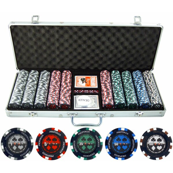 500 Piece Pro Poker Clay Poker Chip by JP Commerce