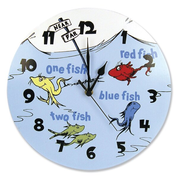 Dr. Seuss One Fish Two Fish 11 Wall Clock by Trend