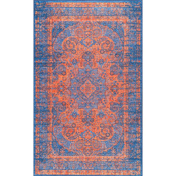 Champlost Navy Blue Area Rug by Bungalow Rose