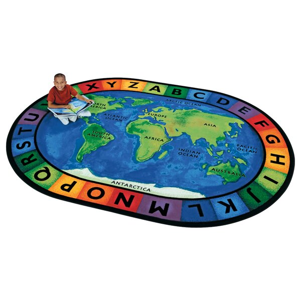 Emerado Circletime Around the World Area Rug by Zoomie Kids