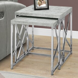 Read Reviews Dace 2 Piece Nesting Tables By Latitude Run