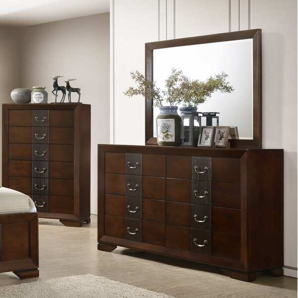 Foote 8 Drawer Double Dresser with Mirror by Winston Porter