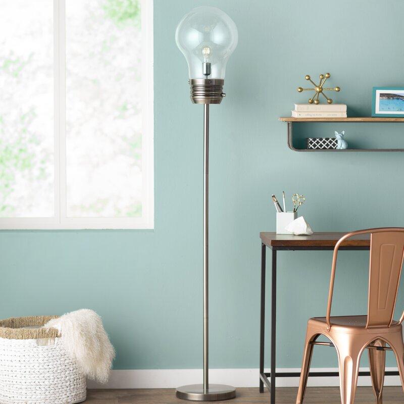 industrial lamps decorative tall floor terrific lamp decor top artistry silver living tripod room