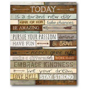 U0027Todayu0027 Textual Art On Wrapped Canvas