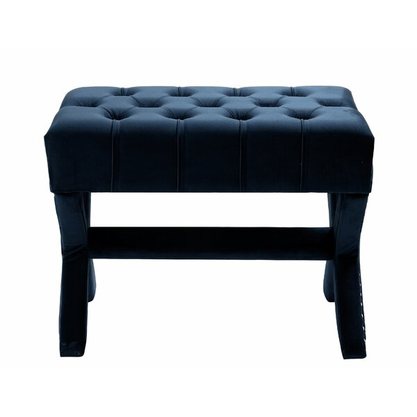 Kenny Button Tufted Cocktail Ottoman by Inspired Home Co.