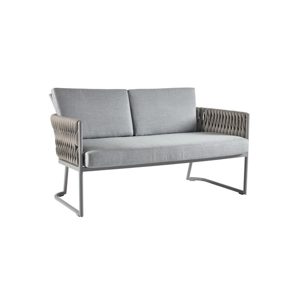 Grogan Loveseat with Cushions by Bungalow Rose