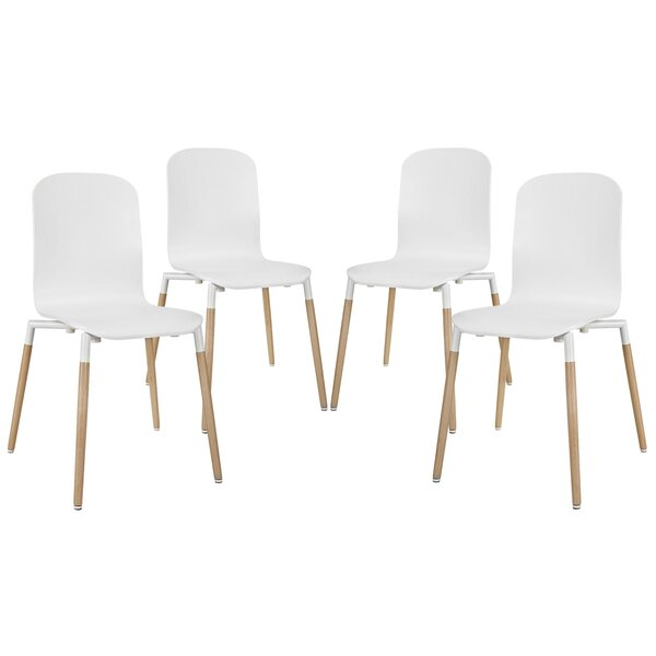 Stack Side chair (Set of 4) by Modway Modway