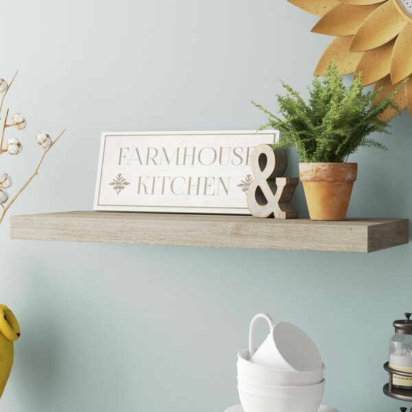 Coad Driftwood Floating Shelf by Gracie Oaks