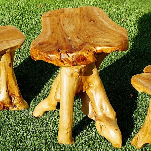 Wood Stump Mushroom Accent Stool by Welland LLC