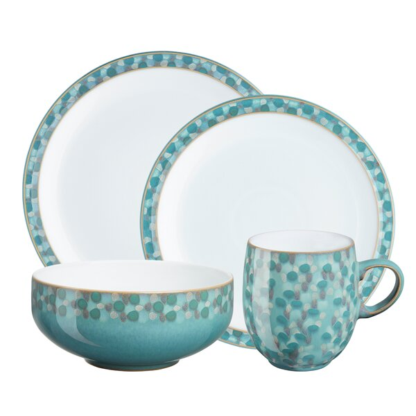 Azure Shell 4 Piece Place Setting, Service for 1 by Denby