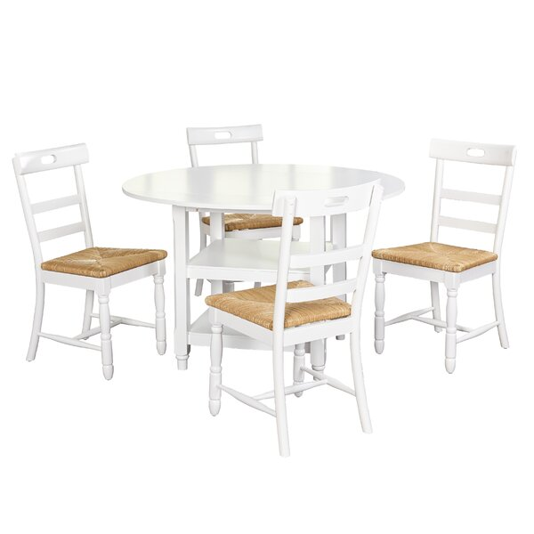 Pollmann 5 Piece Drop Leaf Dining Set by August Grove