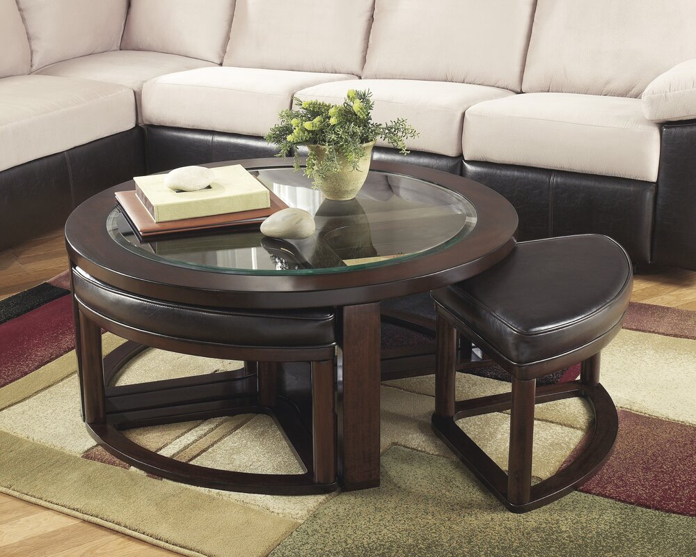 Darby Home Co Eastin 5 Piece Coffee Table and Stool Set & Reviews ...