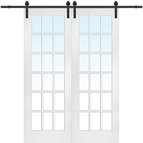 MDF 2-Panel Primed Interior Barn Door by Verona Home Design
