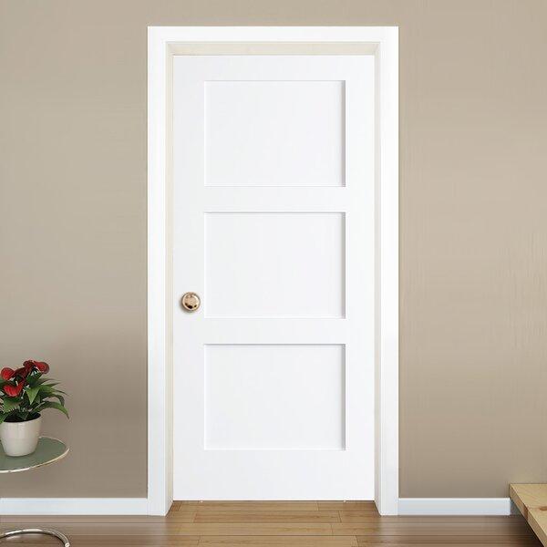 KIBY 3-Panel Shaker Solid Wood Paneled Slab Interior Door \u0026 Reviews | Wayfair & KIBY 3-Panel Shaker Solid Wood Paneled Slab Interior Door \u0026 Reviews ...