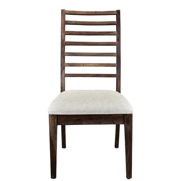 Ladd Solid Wood Upholstered Dining Chair (Set of 2) by Gracie Oaks