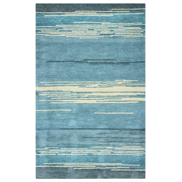 Guiana Hand-Tufted Blue Area Rug by Meridian Rugmakers