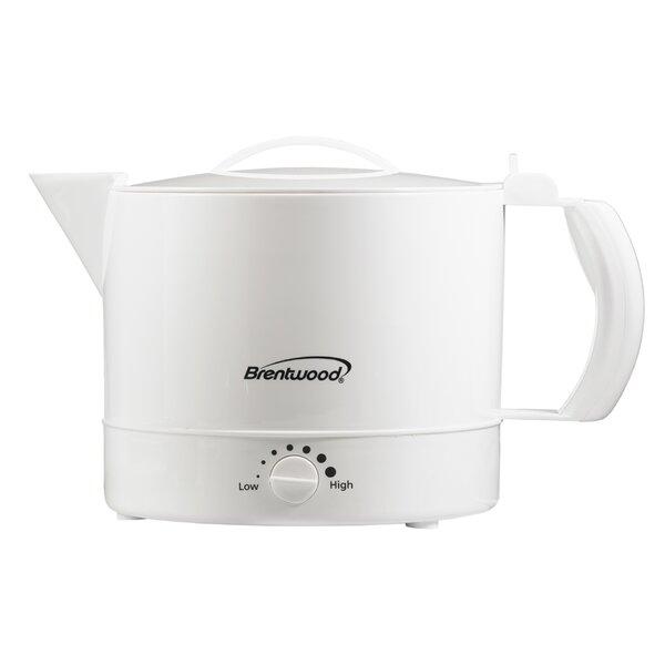 1 Qt. Aluminum Electric Tea Kettle by Brentwood Appliances