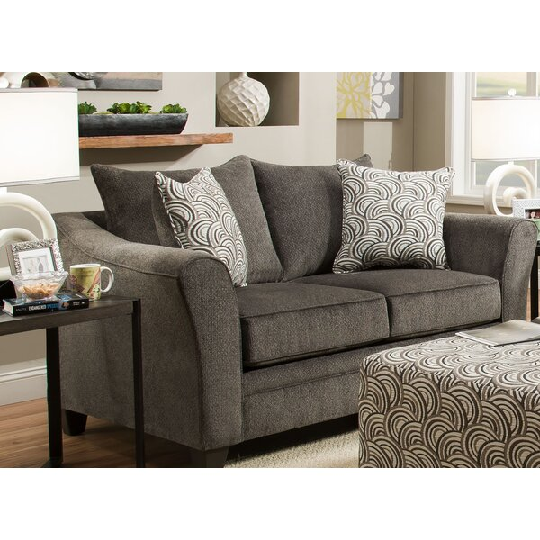 Bargains Simmons Upholstery Woodbridge Loveseat by Wrought Studio by Wrought Studio